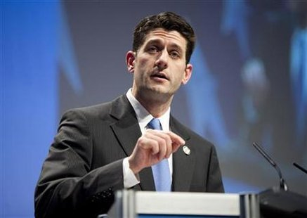 Rep. Paul Ryan (R-WI) speaks during the Conservative Political Action Conference (CPAC) in Washington February 10, 2011. REUTERS/Joshua Roberts