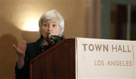 Janet L. Yellen, president and chief operating officer of the Federal Reserve Bank of San Francisco, speaks at the Town Hall Los Angeles forum in Los Angeles, in this file picture taken March 23, 2010. REUTERS/Mario Anzuoni