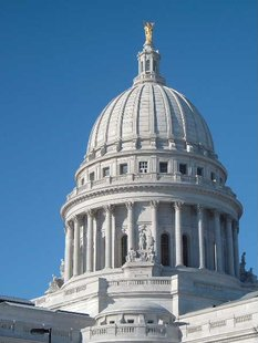 The rotunda of the Wisconsin State Capitol in Madison, WI