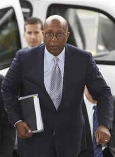 Trade Representative Ron Kirk arrives for a meeting with South Korean Minister of Trade Kim Jong-Hoon (not pictured) in Seoul November 8, 2010. REUTERS/Truth Leem