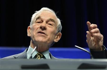 US Representative Ron Paul (R-TX) speaks at the Conservative Political Action conference (CPAC) in Washington, February 11, 2011. REUTERS/Jonathan Ernst