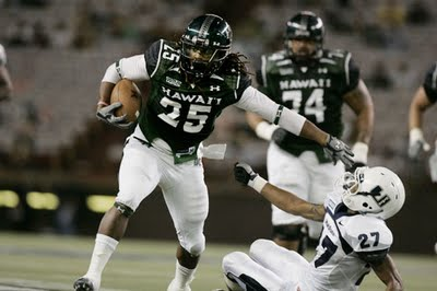 Green Bay Packers 3rd Round selection, Hawaii RB Alex Green (courtesy of mauinow.com)