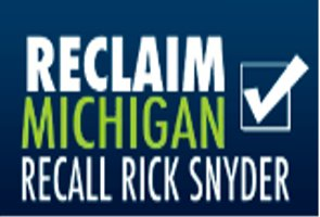 Symbol of Michigan Citizens United's effort to recall Governor Rick Snyder.