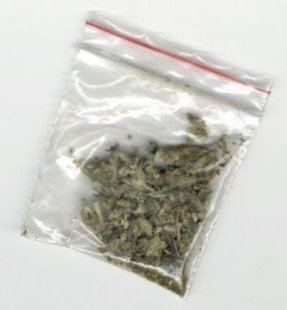 A bag of marijuana.