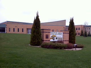 Waupun Junior/Senior High School is seen, May 3, 2011. (courtesy of FOX 11).