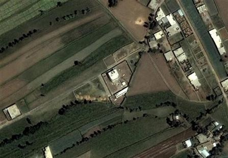This DigitalGlobe satellite image, taken June 15, 2005 and obtained on May 3, 2011, shows the compound (C) that Osama bin Laden was killed in on Monday in Abbottabad, Pakistan. Bin Laden was killed during a U.S. assault on his Pakistani compound on Monday, then quickly buried at sea, in a dramatic end to the long manhunt for the al Qaeda leader who had become the most powerful symbol of global terrorism. Mandatory Credit REUTERS/DigitalGlobe/Han