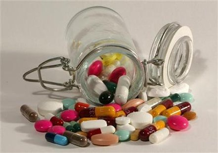 File photo illustration of pills. REUTERS/Jacky Naegelen