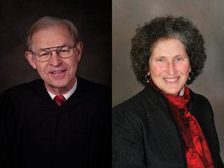 Candidates for state Supreme Court Justice: Incumbent David Prosser (L), Challenger JoAnne Kloppenburg