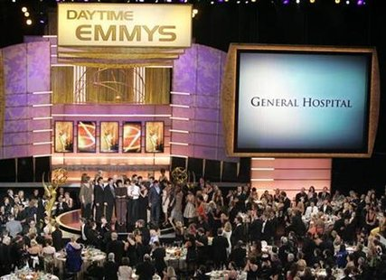 "The cast of ""General Hospital"" take the stage after winning ""Outstanding Drama Series"" at the 35th Annual Daytime Emmy Awards at the Kodak theatre in Hollywood, California June 20, 2008."