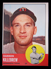 1963 Harmon Killebrew Baseball Card