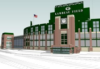 Rendering courtesy of the Green Bay Packers.