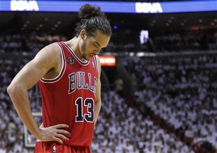 chicago bulls 2011 playoffs. Chicago Bulls#39; Joakim Noah