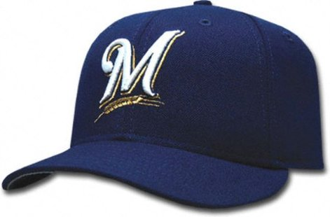 Milwaukee Brewers baseball cap.