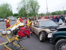 Mock Accident Drill At Coldwater High School