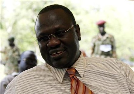 South Sudan's VP Machar talks during interview with Reuters in Ri-Kwangba