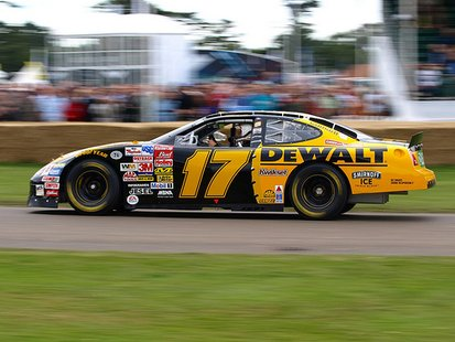 The number 17 DeWalt race car driven by Wisconsin native Matt Kenseth.