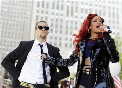 "Singer Rihanna performs on NBC's ""Today"" show in New York"