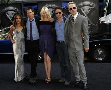 "Cast members arrive at the premiere of ""X-Men: First Class"" in New York City"