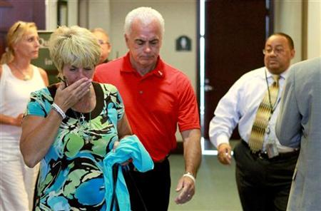 Casey Anthony's parents Cindy and George leave the courtroom during second day of daughter's murder trial in Orlando