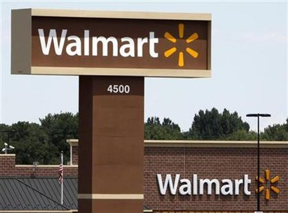 A new Wal-Mart store shows off the company's new logo in Loveland
