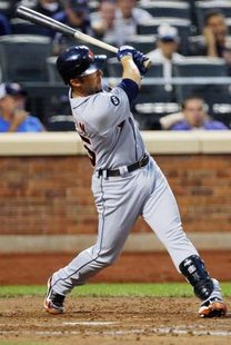 Ryan Raburn of the Detroit Tigers REUTERS/Keith Bedford