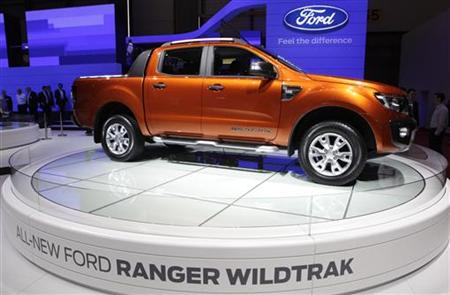 A new Ford Ranger Wildtrak is displayed during the first media day of the 81st Geneva International Motor Show