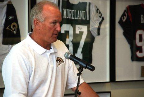 Western Michigan head football coach Bill Cubit at the 2010 WMU Football Media Day.