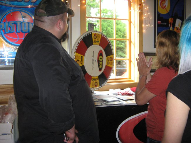 "Q106 and Budweiser stopped by the Blue Gill Grill to get you signed up to win tickets for the ""Bash At The Track""!"