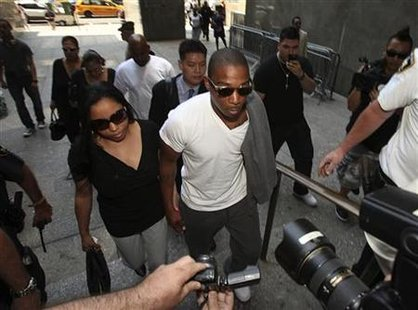 Ja Rule arrives at the Manhattan Supreme Court in New york