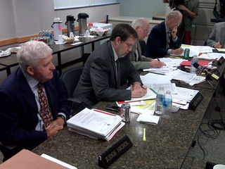 Government Accountability Board hears from political party lawyers concerning recall petition challenges.  (Photo Courtesy of Fox 11, WLUK-TV)