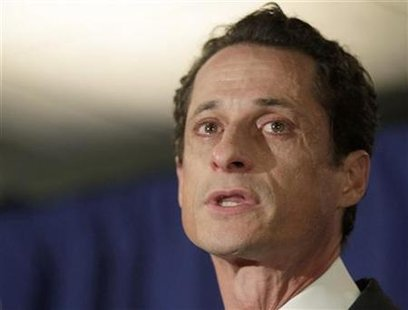 U.S. Congressman Anthony Weiner (D-NY) speaks to the press in New York