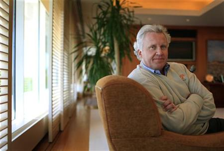 General Electric Chairman and Chief Executive Officer Jeffrey Immelt poses for a portrait during an interview with Reuters in his office at