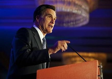 Republican presidential candidate Mitt Romney speaks at the Faith and Freedom Coalition in Washington