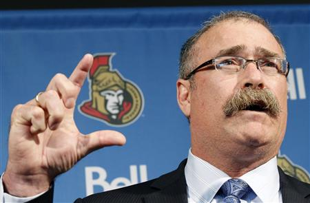 Ottawa Senators new head coach MacLean speaks at a news conference in Ottawa