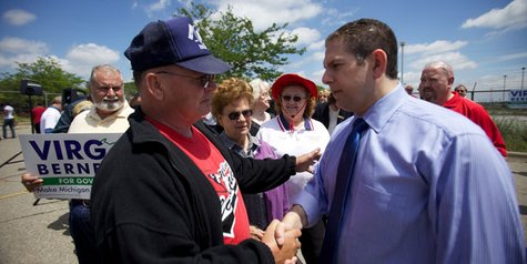 Lansing Mayor Virgil Bernero on the 2010 gubernatorial campaign trail.