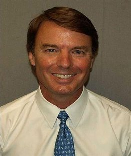 Handout booking image of former Senator and vice presidential candidate John Edwards