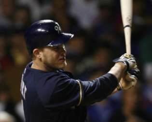 Corey Hart of the Milwaukee Brewers  REUTERS/John Gress