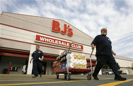 Shoppers leave a BJ's store in Virginia