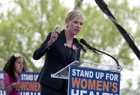 "Cecile Richards speaks at a ""Stand Up for Women's Health"" rally in Washington"