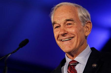 Representative Ron Paul speaks during the Republican Leadership Conference in New Orleans