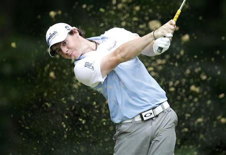 McIlroy hits a tee shot on the 13th hole during the third round of the 2011 U.S. Open in Maryland