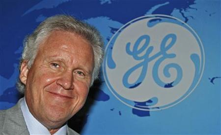 General Electric Co Chief Executive Jeff Immelt poses for a picture after a meeting in New Delhi