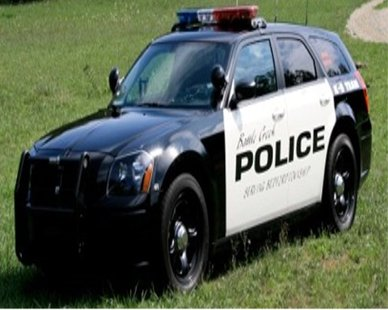 A Battle Creek police department vehicle is shown in a stock photo.  Photo courtesy of battlecreekmi.gov.