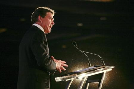 Texas Governor Rick Perry speaks during the 2011 Republican Leadership Conference in New Orleans