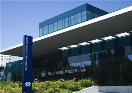 Philip Morris International Operation Center is pictured in Lausanne