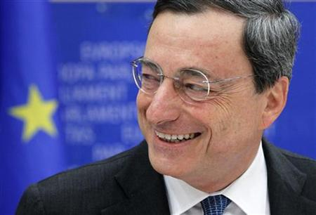 Draghi attends the EU Parliament economic and monetary affairs committee in Brussels