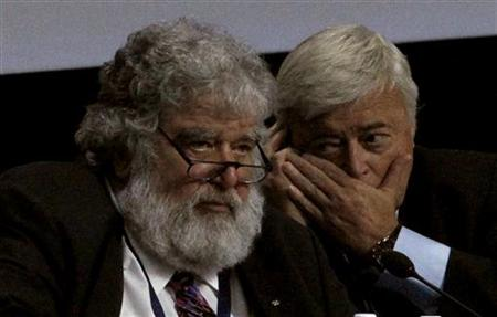 Chuck Blazer and Ricardo Teixera attend the 61st FIFA congress at the Hallenstadion in Zurich