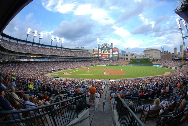 Photos from Comerica Park as the Tigers beat the Diamondbacks 6-0 June 25, 2011.  Tigers pitcher Justin Verlander struck out a career-high 14.  Homer, MI native and CMU standout Josh Collmenter made his first major-league start in his home state.  Photos by Sean Patrick Duross.