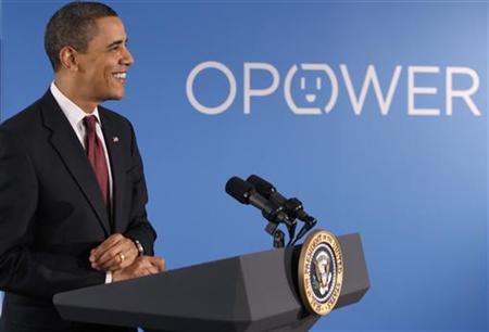 Obama speaks on clean energy at Opower in Arlington