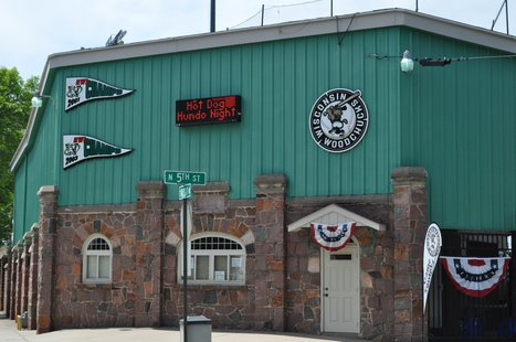 Wausau's Athletic Park. Home of the Wisconsin Woodchucks. Image taken 6/13/2011.